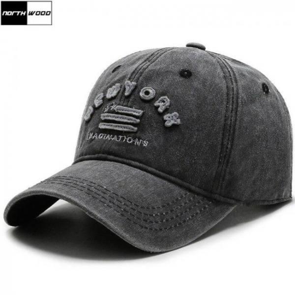 [northwood] brand mens baseball caps new york washed cotton baseball dad hat bone masculino trucker cap women hip hop cap