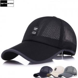 [northwood] summer cap mesh baseball cap men women long brim snapback trucker cap solid casquette homme