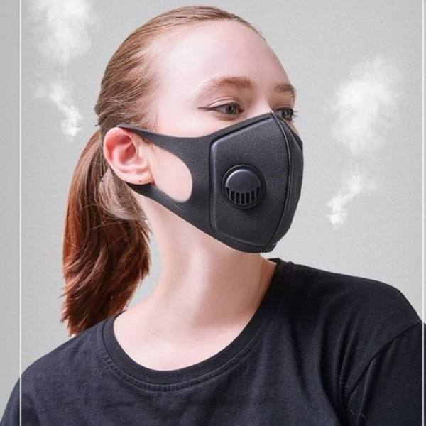 Pollution mask reusable anti air dust pm2.5 mask and smoke with adjustable straps and washable respirator earloop mask made
