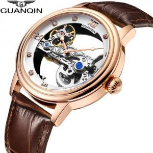 Guanqin luminous  mechanical automatic men watches tourbillon 2019 luxury top brand  men clock waterproof gold relogio masculino