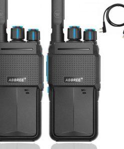 2pcs abbree ar-f2 mini walkie talkie portable radio station two way radio uhf band 400-480mhz hf transceiver bf-888s uv-5r