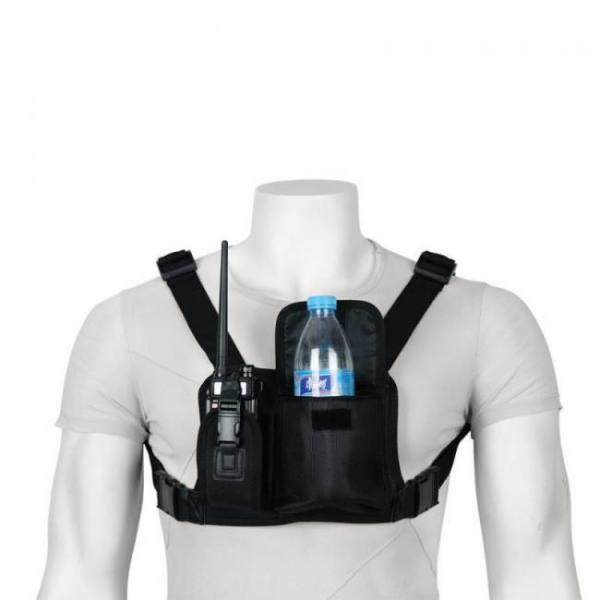 Abbree double radio shoulder holster chest harness holder vest rig for two way radio rescue essentials