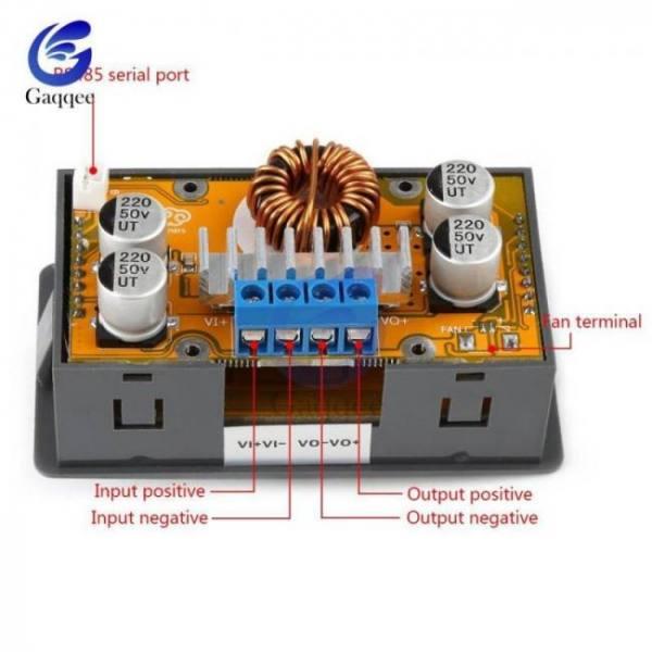 Adjustable dc-dc 5a step down power supply buck module 6v-32v to 0-32v lcd display cc cv voltage regulator converter led drive