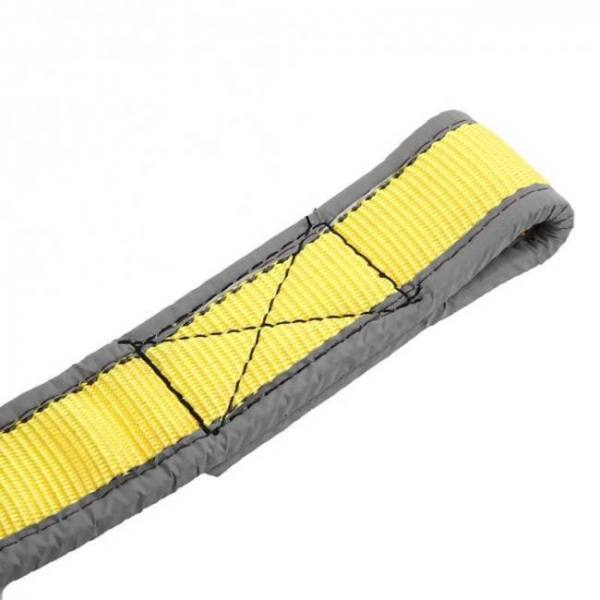 Car trailer towing rope recovery tow strap 8 tons 4 meters with u-shape hooks light reflection towing cable tool