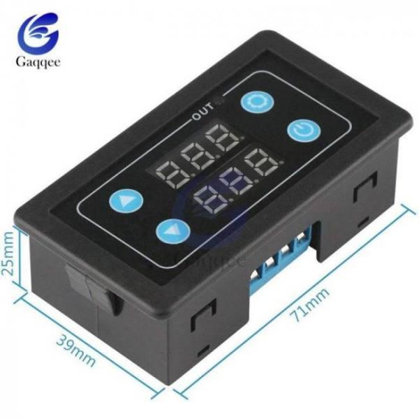 Digital led display timer delay relay switch panel dc 5v/12v/24v ac 220v/85-265v adjustable cycle on-off control module