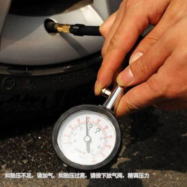 Long tube auto car bike motor tyre air pressure gauge meter tire pressure gauge 0-100 psi meter vehicle tester monitoring system