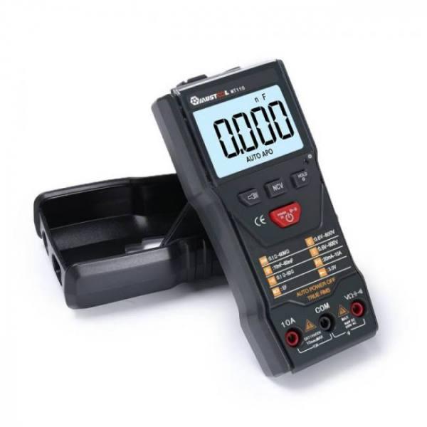 Mustool mt110 auto measure multimeter true rms digital 6000 counts multimeter+dc800v+data hold +backlight+ncv/super bright