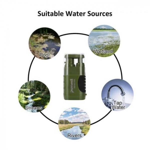 Outdoor water purifier emergency life survival water filter mini portable filter tool outdoor activities