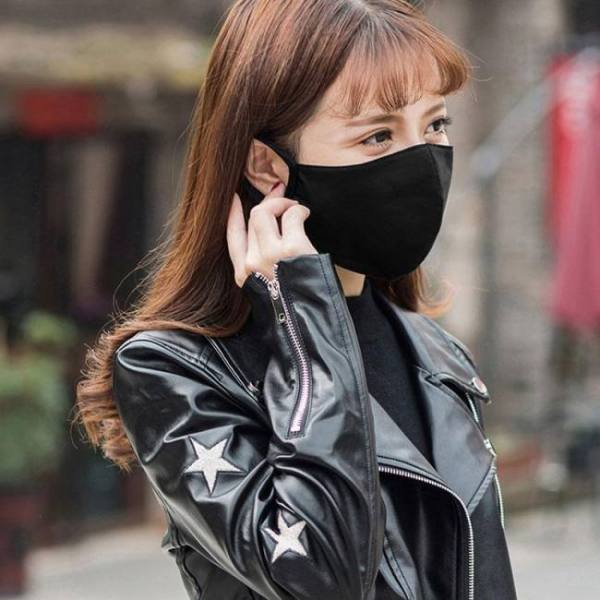 Pm2.5 fashion black luminous mouth mask anti dust mask filter windproof mouth-muffle bacteria proof flu face masks care reusable