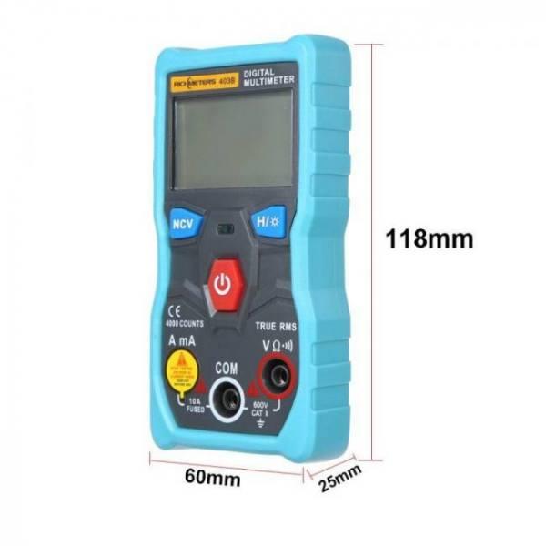 Rm403b automatic digital multimeter auto range true-rms ncv 4000 counts ac/dc voltage current ohm test tool smart backlight