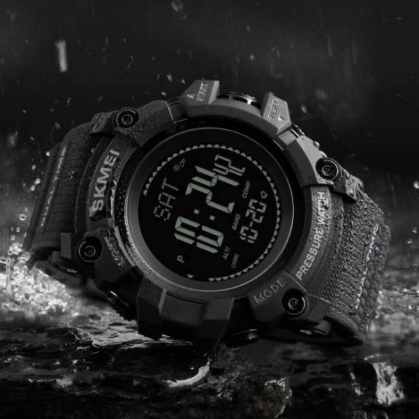 Skmei mens sport watch fashion men's digital watch altimeter barometer compass temperature weather electronic luxury men watches