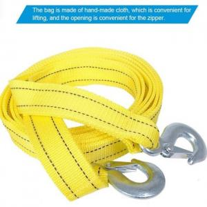 Tioodre 4m 5 ton car tow cable towing pull rope strap hooks van road recovery heavy duty multifunctional broken vehicle durable