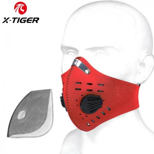 Variation #1 of x-tiger kn95 antiviral coronavirus protection mask cycling face mask anti-pollution breathing mask with activated carbon filters