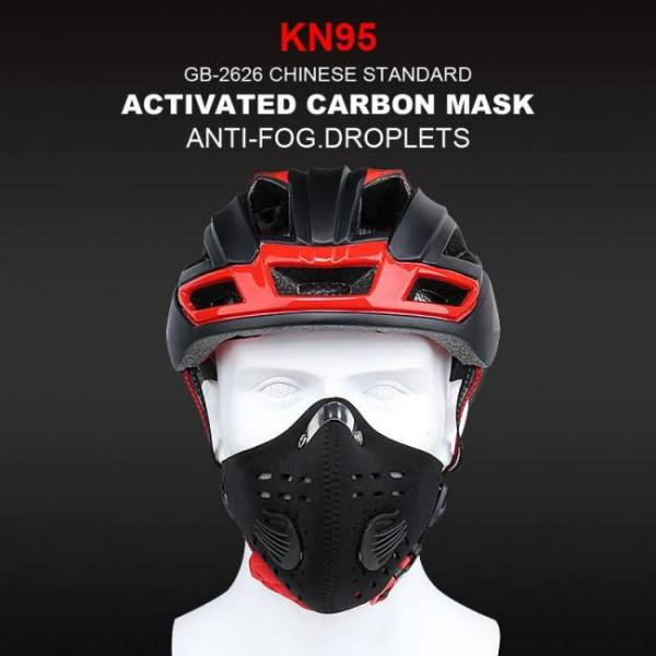X-tiger kn95 antiviral coronavirus protection mask cycling face mask anti-pollution breathing mask with activated carbon filters