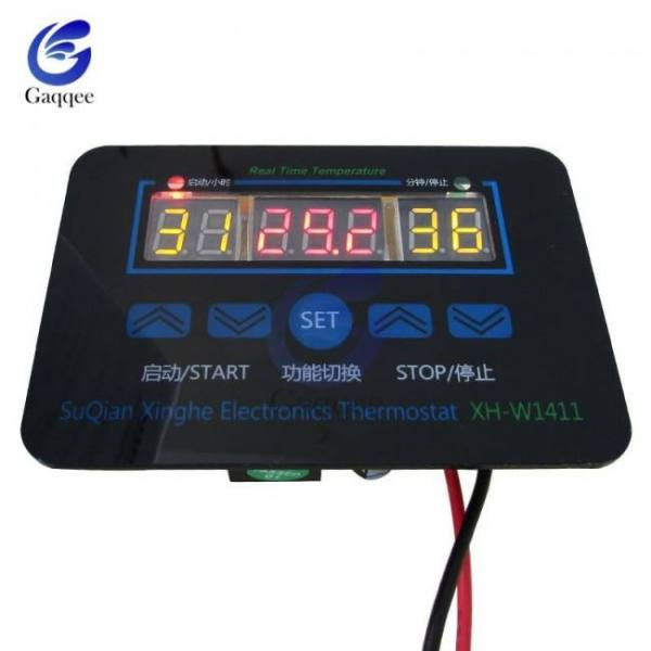 Xh-1411 w1411 dc 12v ac 110v-220v display digital temperature controller multi-function temperature thermostat control switch