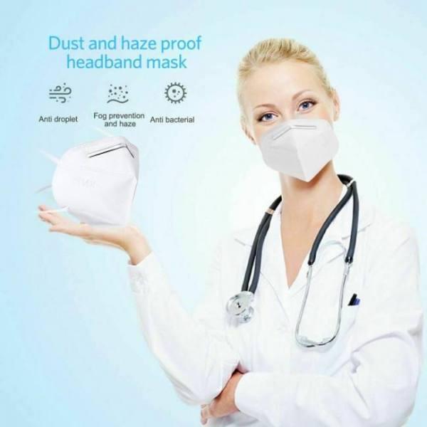 10Pcs KN95 95% Filtration Anti Dust Bacterial N95 Dustproof PPE ...