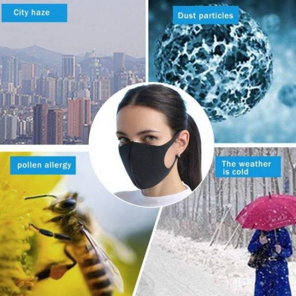 20pcs pm2.5 respirator mouth mask valve gauze haza mask mouth mask breathable washable health beauty sunscreen face mask