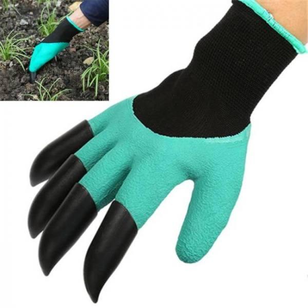 4/8 hand claw abs plastic garden rubber gloves gardening digging planting durable waterproof work glove outdoor gadgets 2 style
