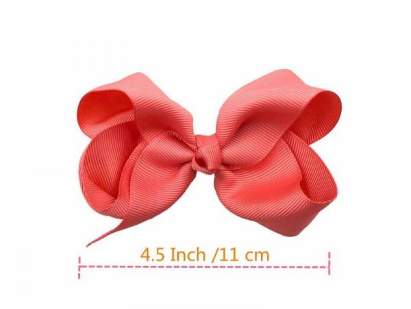 40pcs 4.5 inch kid girls large ribbon hair bows clips accessories for toddlers kids girls hair accessories