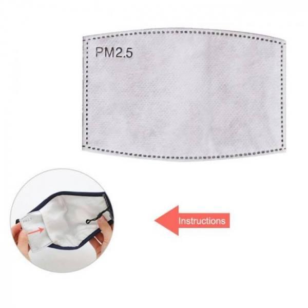 50pcs/lot pm2.5 filter paper anti haze mouth mask anti dust face mouth mask filter paper 5 layers protection square arc-shaped