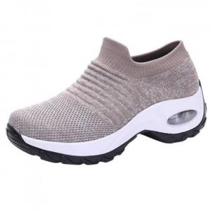 2019 women shoes plus size sneakers women breathable mesh sneakers casual walking shoes sock sneakers slip on lazy shoe #1029