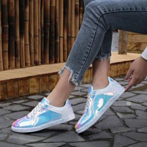 Fashion women casual shoes colorful series sneakers cool wild reflective casual shoes women designers trainers sneakers #1207
