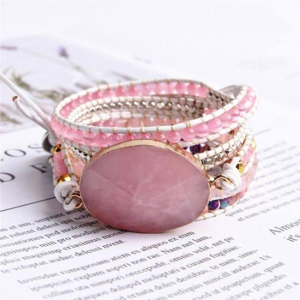 2019 unique punk bracelets women wrap bracelets natural stones 5 layers leather cuff bracelet femme bracelets gifts dropshipping