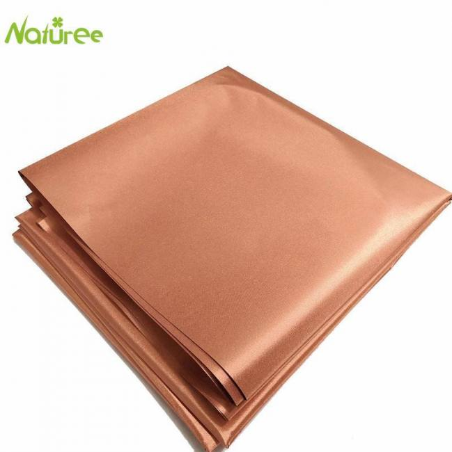 50cm*110cm copper fabric blocking rfid/rf-reduce emf/emi protection conductive fabric for smart meters prevent from radiation
