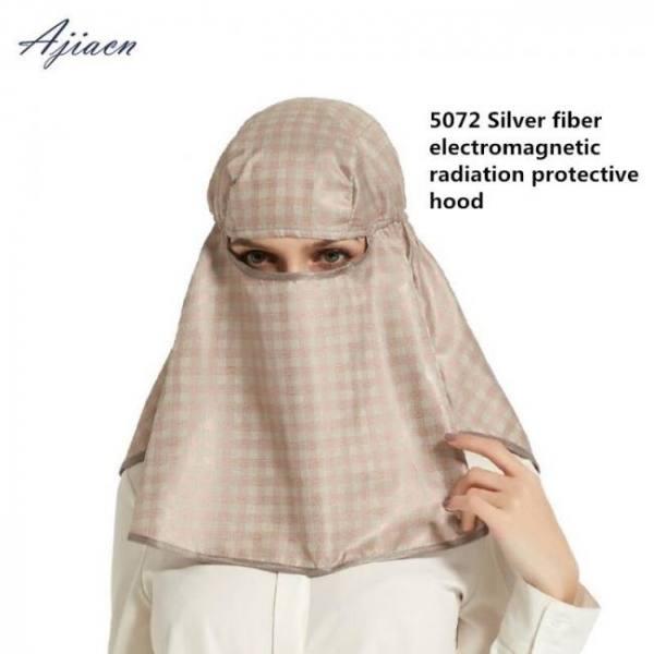New arrivals anti-radiation silver fiber head hood mask computer room microwave emf shielding 50% silver fiber head cover