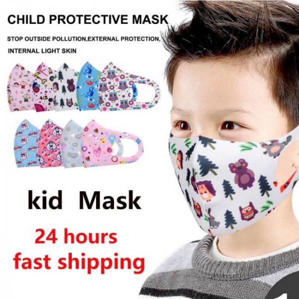 10pcs pm2.5 children mouth mask respiratory valve cartoon panda thicken smog face mask warm dust mask fits old kids