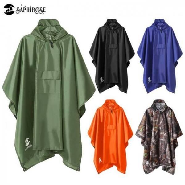Hooded rain poncho waterproof raincoat jacket for men women adults