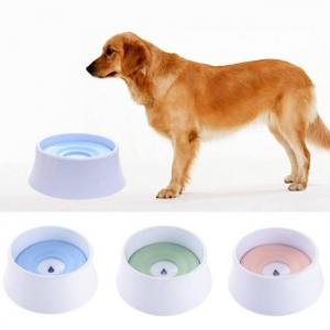 1200ml pet cat dog water bowl floating bowl slow water feeder dispenser anti-overflow pet fountain