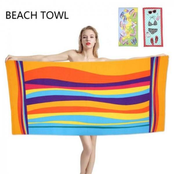 Microfiber beach towel bathroom to