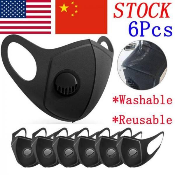 Mask reusable 6pcs sponge protect