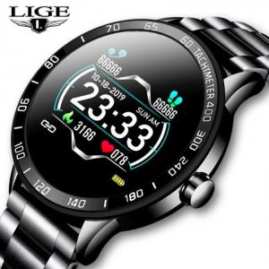 Lige new smart watch men pedometer