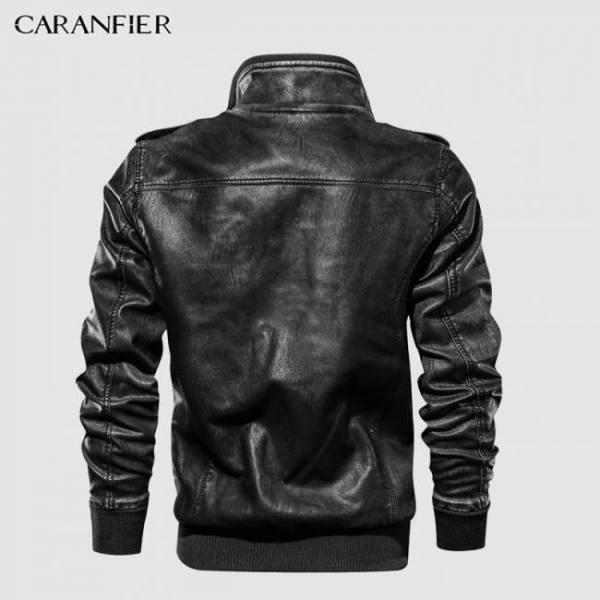 Caranfier mens leather jackets mot