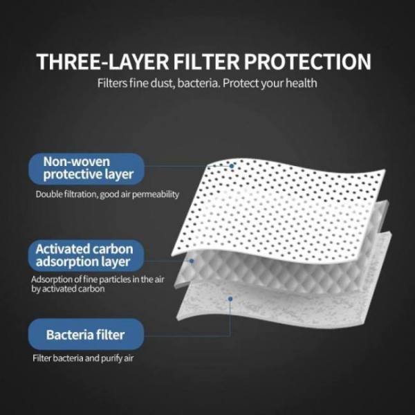 Hot pm2.5 70pcs mask set including 20pcs kn95 mask 50pcs disposable non-woven anti fog dust mask kit drop shipping set