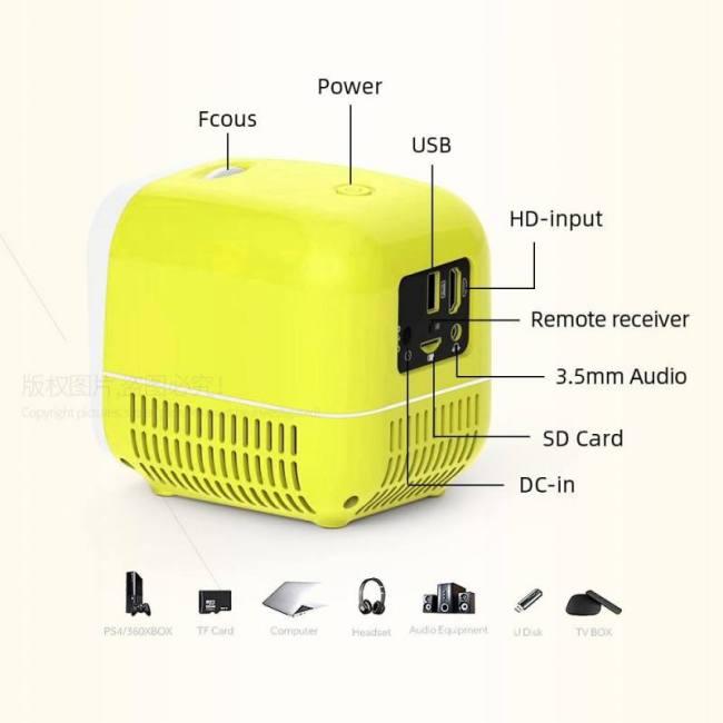 Super mini projector l1 | usb led