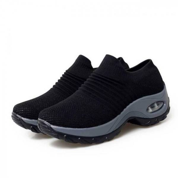 Women walking sock sneakers female thick bottom platform shoes woman running sport mesh shoes air cushion women's sneakers #1122