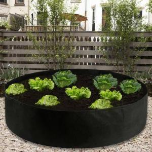 Fabric raised garden bed round pla
