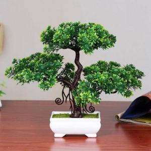 Adeeing artificial pine bonsai cre