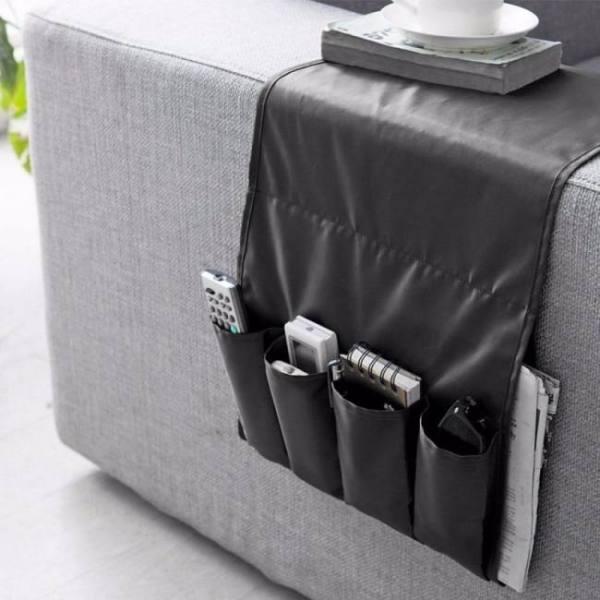 Sofa armrest storage organizer bed