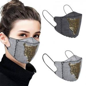 Silk maske women sequined patchwor