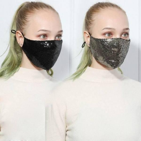 Fashion masks women shiny sequined