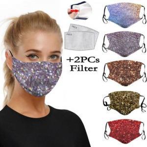 Designer maske sequin print dustpr
