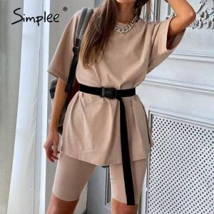 Simplee casual solid outfits women