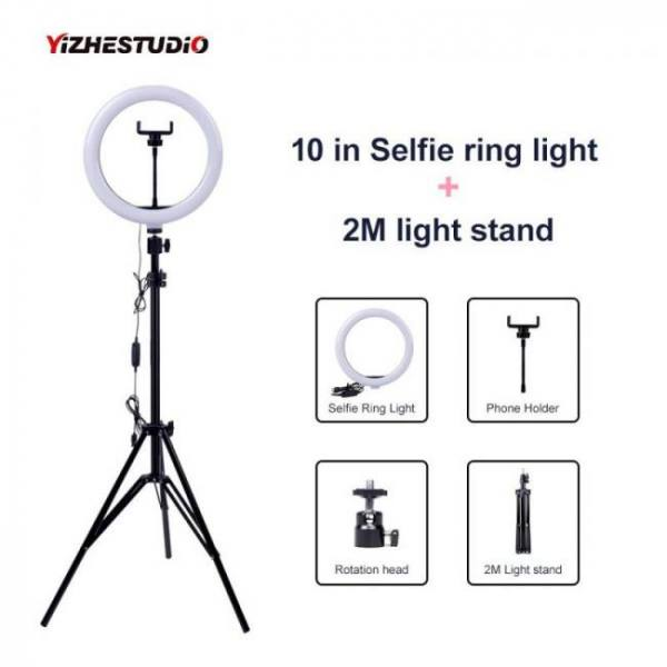Video light dimmable led selfie ri