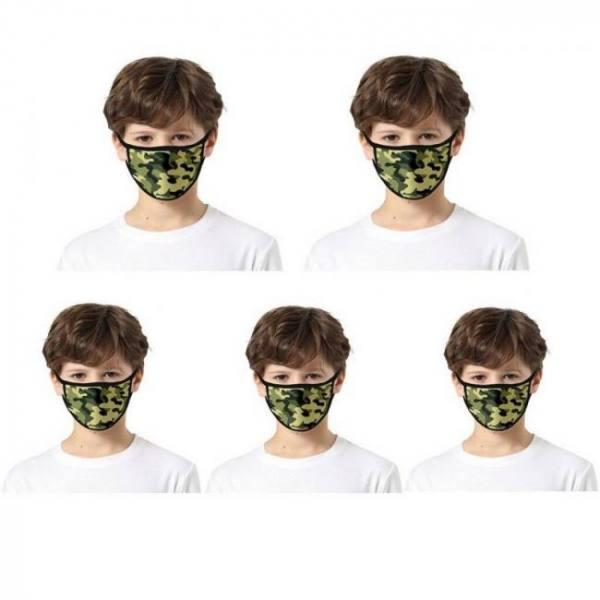 5pc kids 3d camouflage print maks