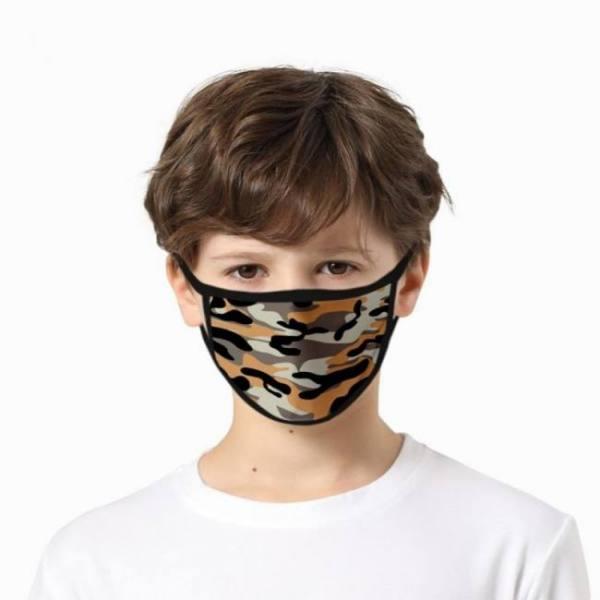 Variation #21 of 5pc kids 3d camouflage print maks maske breathable filter safet protect cotton face maskswashable and reusable mascarillas maks