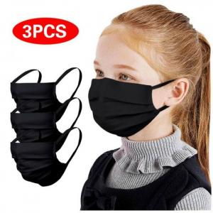 6pc kids fabric facemask faceshiel